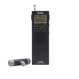 Wholesale Dsp Speakers - PL360 PLL World Band DSP Radio station receiver with ETM AM FM SW LW PL-360 Black Silver Available built-in speaker