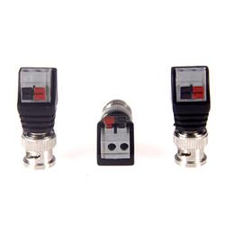 koaxialkabel cctv kamera Rabatt CCTV BNC männlich UTP Video Balun Stecker Kabel Adapter Stecker gedrückt für CCTV-Kamera verbunden