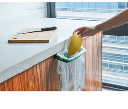 Wholesale Wholesale Storage Cabinets - New Hanging Kitchen Garbage Bags Rack Storage Holders Practical Cupboard Cabinet Tailgate Stand c344