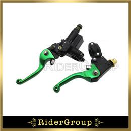 Wholesale Brake Master Cylinders - Green Hydraulic Brake Master Cylinder Lever For KLX Coolstar Thumpstar SSR Pit Bike