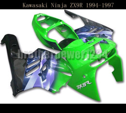 Wholesale Kawasaki Zx9r Black - Full Fairings for Kawasaki ZX9R 1994 95 96 1997 ABS Bodywork Green Blue Black Covers