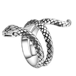 Wholesale Heavy Metal Jewelry Wholesale - whole sale2017 New Fashion Wholesale Fashion Snake Rings For Women Silver Color Heavy Metals Punk Rock Ring Vintage Animal Jewelry
