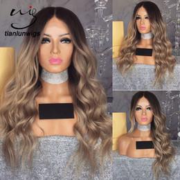 2019 cabelo humano roxo escuro Raízes escuras 150% densidade do cabelo humano chinês perucas loiras naturais olhando peruca de cabelo ombre roxo, dois tons de cor grande onda do cabelo perucas cabelo humano roxo escuro barato