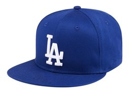 Wholesale hockey team hats - top Sale newest Men's Los Angeles Snapback Hat Team Logo Embroidery Sports Adjustable LA Hockey Caps Vintage Leather Visor Strap back Hat