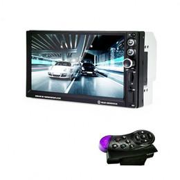 Coche teledirigido del volante online-Reproductor multimedia para coche Universal Car MP5 Player Control de rueda Radio Controlador remoto de 7 pulgadas Touch Steer Wheel Controller