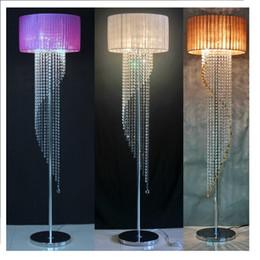 lámparas de pie para sala de estar Rebajas Moderna lámpara de pie de cristal decoración del hogar sala de estar salón Abajur sofá tela Dicroica Lamparas Crystal Stand luces
