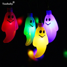 Taby Halloween LED String Light 4M 20LEDs Cute Ghost Skull Resistente al agua Holiday LED Lighting EU / US Plug Outdoor Garland Deco desde fabricantes