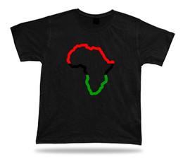 Ropa africana online-African Horizon View Sketch Schema Camiseta especial Color Flag Tee Apparel 2017 Nueva moda camiseta Hombre Cotton Print