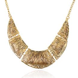 Wholesale necklace big geometric - LZHLQ Vintage Splice Geometric Big Necklace Fashion Thick Metal Pattern Brand Maxi Necklaces Trendy Women Sweater Chain Jewelry