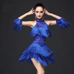 07afa314a0 Nuevo 2017 Latin Dance Dress Mujeres   Niñas   Lady New Sexy Fringe Salsa    Salón de baile   Tango   Cha Cha   Rumba   Samba   Latin Dresses para bailar