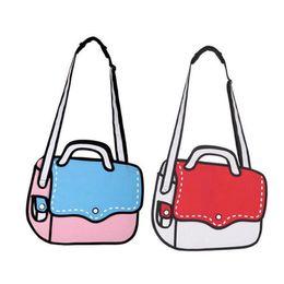 Wholesale 2d handbags - Designer New Fashion Woman Bags 2d Cartoon Bag Messenger Shoulder Crossbody Bag Bolsa Feminina Bolsosde Ombro 3d Comic Handbag