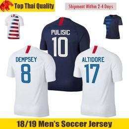 Wholesale quality state - Thai Quality 2018 2019 USA PULISIC Soccer Jerseys 17 18 America MORRIS DEMPSEY Jersey United States BRADLEY ALTIDORE WOOD Football Shirts