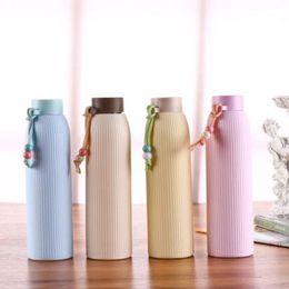 Canada 330 ML cadeau étudiant sans plomb bouteille d'eau avec couvercle en plastique résistant à la chaleur bouteille potable portable Sports cheap lead plastic cover Offre
