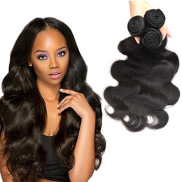Wholesale remy wavy - Cambodian Virgin Hair Body Wave 100% Human Hair Weave Bundles Unprocessed Peruvian Malaysian Indian Brazilian Remy Wet and Wavy Hair Weaving