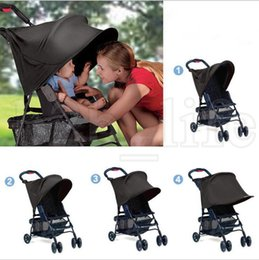 Wholesale sun hood - Baby Stroller Sunshade Canopy Cover compatible Strollers Cap Sun Hood Accessories Carriage Sunshade Sunscreen for children LJJK1015