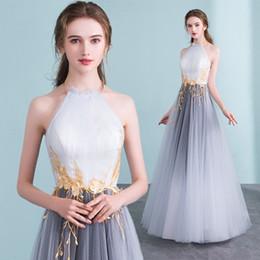 MLH2802 Formal de lujo vestido de noche largo Nueva llegada Halter espalda abierta Prom Vestidos Robe De Soirée Vestido De Festa desde fabricantes