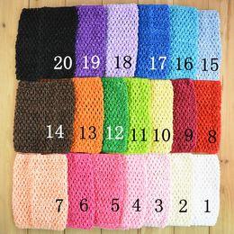 Wholesale Wide Crochet Elastic - 34 Colors New Arrival 6 Inch Girls elastic Crochet Tutu Tube Tops tensile Chest Wrap Wide Crochet headbands wrap H56