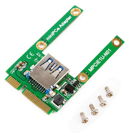 Wholesale Pci Interface Cards - Hot New Mini PCI-E Card Slot Expansion to USB 2.0 Interface Adapter Riser Card