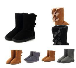 Argentina 2018 Mujeres de invierno Botas de nieve Moda genuina de cuero de gamuza Australia Classic Keep Warm Winter Brand Shoes botas de diseñador de lujo supplier winter shoes Suministro