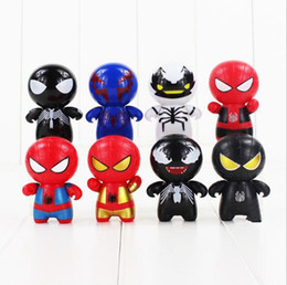 Wholesale Black Spider Man Figure - Super Heroes Spideman Superman Spider Man Hulk Ironman Captain America Bat Figure X0151 Mini Building Blocks Figures