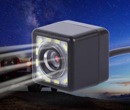 telecamera di backup retrovisore wireless retrovisore Sconti 12 LED Night Vision Light Car Rear View Camera Universal Parking Support Fotocamera impermeabile 170 Grandangolare HD Immagine a colori