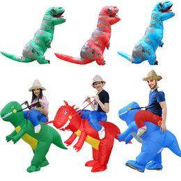 2019 vestido de dinossauro adulto Traje de Halloween para as mulheres trajes de dinossauro inflável para adultos homens T-rex vestido extravagante crianças adulto Fan Y1891202 operado vestido de dinossauro adulto barato