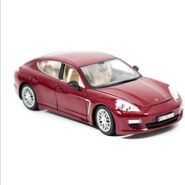 Wholesale Diecast 18 - wholesale retail new diecast porsche palmer lamela model cars can open door 1:18 Alloy simulation model toy gift red black silver