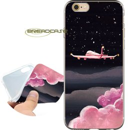Iphone 5c cover pink en Ligne-Coques de protection Pink Space Sky Cloud pour iPhone 10 X 7 8 6S 6 Plus 5S 5 SE 5C 4S 4 iPod Touch 6 5 Coque en silicone TPU transparente.