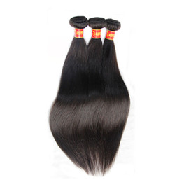 26 inch hair extentions Coupons - Russian Virgin Hair Straight 3Pcs Lot Russian Silky Straight Human Hair Weave Bundles Cheap Russian Remy Hair Extentions Natural Black 1B