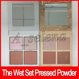 Wholesale christmas color palettes - 2018 The Wet Set Pressed Powder Christmas Holiday Collection eyeshadow palette Illuminating Powder 4 color dhl free