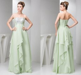 7dc031b9a79 Discount elegant mint green evening dress - Mint Green Ruffles A Line  Evening Dresses Strapless Sequins