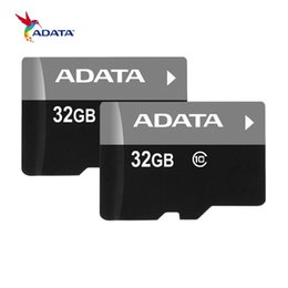 Wholesale Usa Packages - 100% Real Full 4GB 32GB ADATA TF Memory Card with Free SD Adapter Blister Retail Package Class 10 C10 Fast Speed Dropshiping to USA