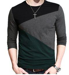 manica lunga del manicotto v del collo del collo v Sconti Plus Size Uomo Autunno Casual T -shirt Moda Slim manica lunga con scollo a V T Shirt Button Decorating Tees Tops V -Neck