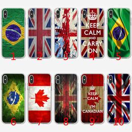 2019 iphone londres Coque en TPU Silicone souple avec drapeau de Londres, drapeau du Canada promotion iphone londres