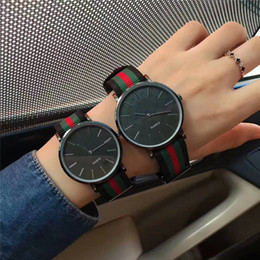 Wholesale Christmas Tables - 2018 new selling AAA fashion casual men's quartz watch luxury brand business high-quality nylon strap dress couple table. Woman's gift
