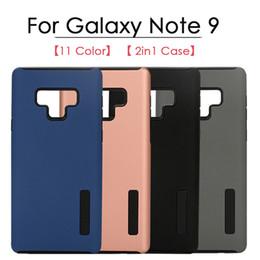 2019 edizione telefono nero Matte 2in1 Custodia protettiva per telefono cellulare Custodie per Samsung Galaxy Note9 Note8 S9 S9Plus S8 S8Plus S7 S7Edge S6 S6EDGE J3 J4 J6 J6 J8 2018