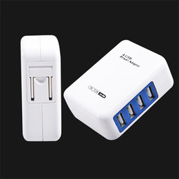 Wholesale Usb Port Devices - Smart USB Charger 4 Port EU US Plug Multiple Wall Adapter Mobile Phone Device 5V 3.1A Fast Charging For IPhone Android