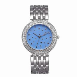 2019 volle kristallfrauenuhren Uhren michael quarzuhr casual voller stahl zifferblatt stil frau himmel sterne damenuhr frauen kristall diamant legierung uhr a543 günstig volle kristallfrauenuhren