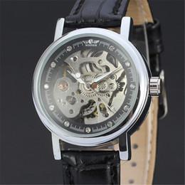 winner watch classic 2018 - WINNER Women Watch Automatic Mechanical Lady Watches Top Brand Luxury Classic Fashion Leather Band Skeleton Female Clock New 113