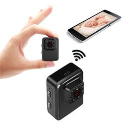 Wholesale Digital Nanny - Mini WiFi Hidden Camera Wireless Small Camera 1080P HD Portable Sports Camera with IR Night Vision Digital Video Recorder Nanny Cam
