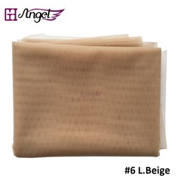 Wholesale Lace Net Wigs - Angels Swiss Lace Net For Wig Making And Wig Caps Lace Wigs Material Lace Closure Accessories 7 Colors Available Beige
