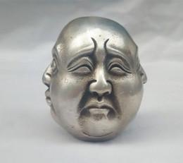 Raro tibete chinês 4 faces estátua de cabeça de Buda de Fornecedores de lupas grossistas