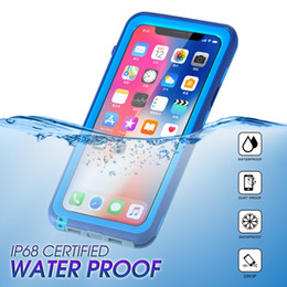 Wholesale Plastic Mobile Phone Shell - IphoneX 10 mobile phone cases jacket waterproof protective shell outdoor mobile phone against the shell waterproof dust proof