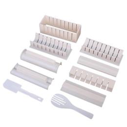 TFBC 10Pcs / Set Sushi Maker Kit con rotoli di riso da