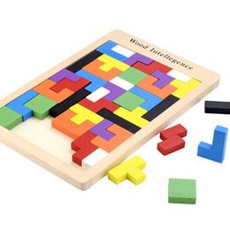 Vendita Giocattolo per bambini Oggetti per l'intelligenza di Tetris Puzzle per bambini Pezzi di legno per puzzle Giocattoli di legno Regalo per bambini 2135 da fiammiferi dentellare di plastica all'ingrosso fornitori
