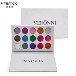 Wholesale Rainbow Magnets - VERONNI 15 10 Colors Glitters Eyeshadow Diamond Rainbow Make Up Cosmetic Pressed Glitters Eye Shadow Magnet Palette