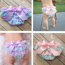 lace diaper covers 2018 - Kids Clothing Ruffle Lace Baby Bloomers Diaper Cover Newborn Tutu Ruffled PP Shorts Panties Baby Girls Clothes Infant Toddler Baby Shorts