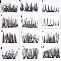 Wholesale Synthetic Hair Strip Extensions - 4pcs pair 3D Magnetic False Eyelashes Handmade Reusable False Natural Long Soft Magnet Eye Lashes False Magnet Eyelashes Extension tools