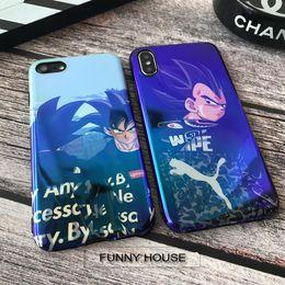 Cubierta de la caja para blu online-YunRT New Vegeta DRAGON BALL Estuche blando de Blu-ray para iphone 6 6S plus 7 7plus 8 8plus X Sup Any Son fundas para teléfonos Goku