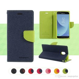 case note mercury Canada - Fashion Mercury PU Leather Wallet Phone Case Kickstand Coque Phone Cover for IPhone X 8 7 6 6s Plus 5s Samsung Galaxy S9 S8 S7 Plus Note 8